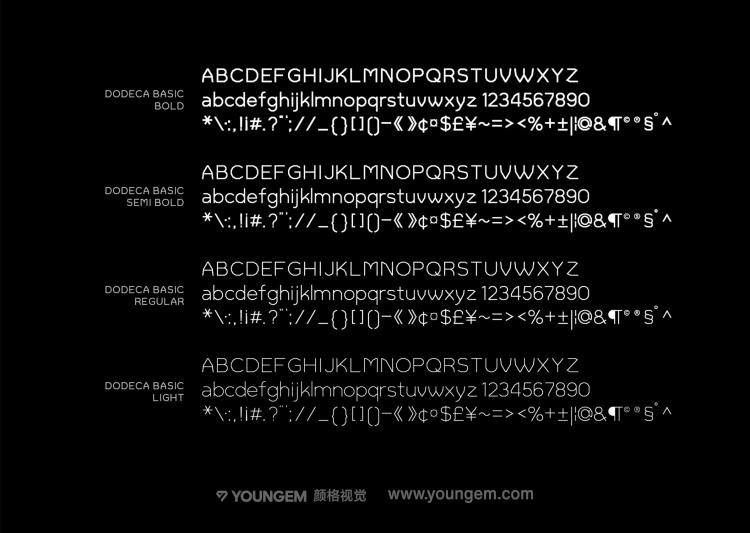 影片封面字幕无衬线英文字体设计素材
