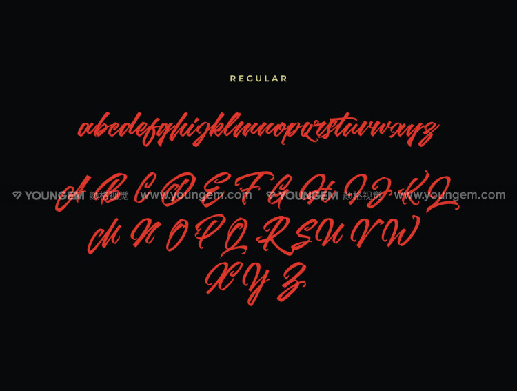 商品包装广告logo设计练字手写英文字体设计素材