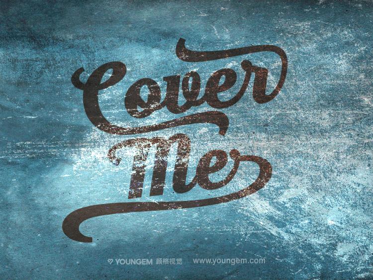 复古海报印刷logo设计手写英文字体设计图片