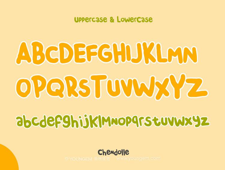 儿童卡通食品海报封面手写英文字体设计模板