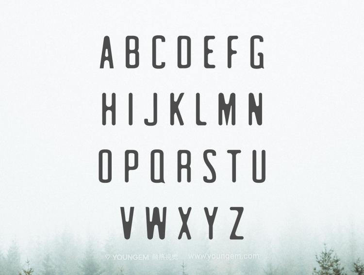 广告封面艺术英文字体下载图片