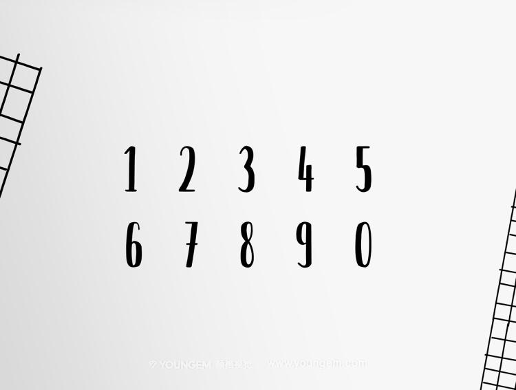 杂志书籍封面商品包装艺术手写英文字体logo设计模板