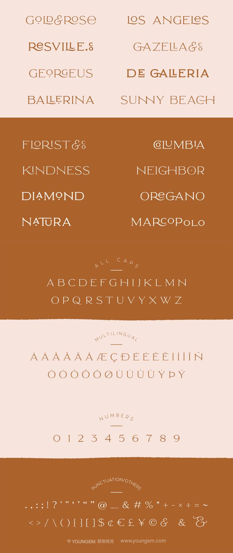 极简的服装印刷品牌商标logo设计英文字体设计模板