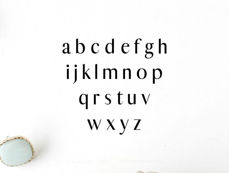 海报杂志广告标题设计英文字体下载素材