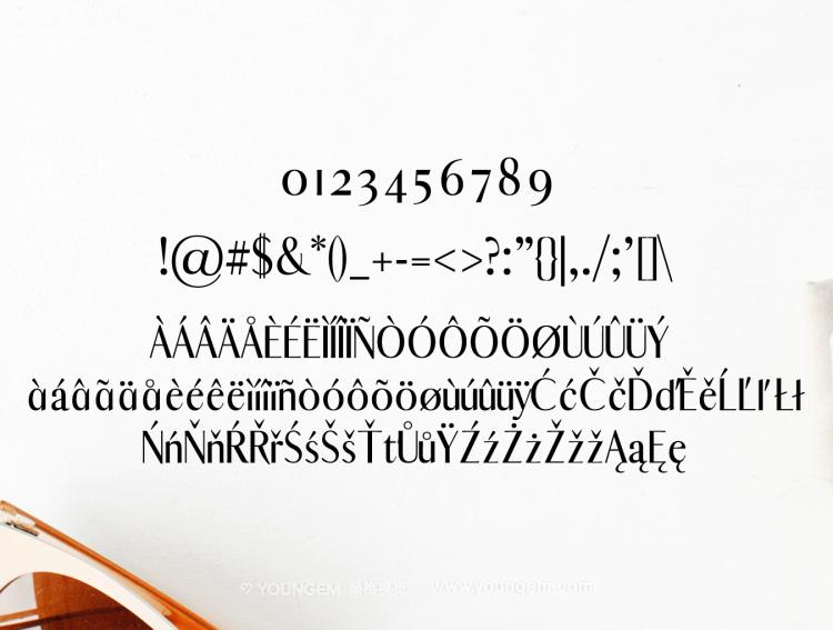 海报杂志广告标题设计英文字体下载模板