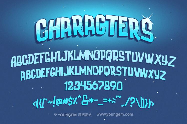 卡通动画动漫书籍封面英文字体设计素材