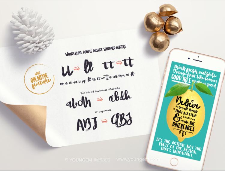 商品包装标题设计艺术手写英文字体下载图片