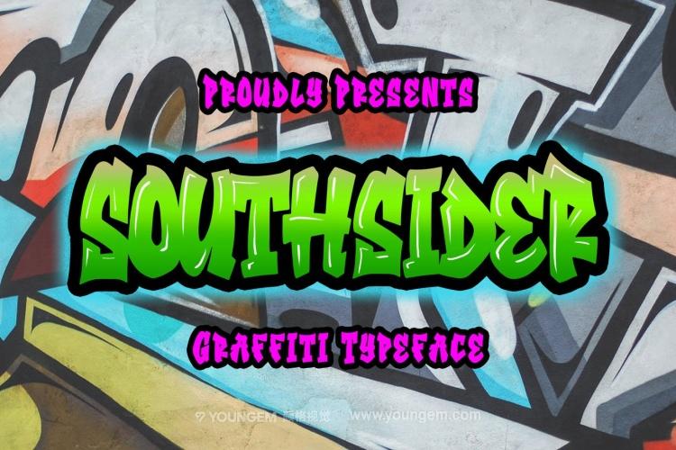 嘻哈音乐儿童海报传单卡通漫画英文字体下载图片