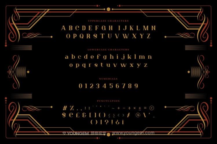 复古商品宣传广告艺术英文字体设计素材