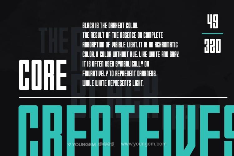 商品包装宣传英文字体设计素材