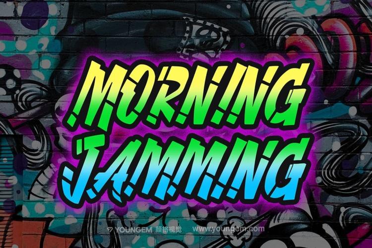 嘻哈音乐卡通海报艺术装饰英文字体下载素材