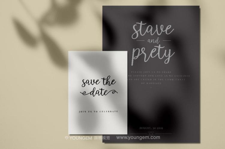 商品包装贺卡书籍封面艺术手写英文字体下载模板