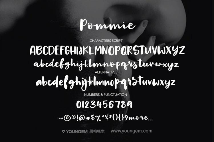 请帖贺卡邀请函连字艺术手写英文字体设计模板