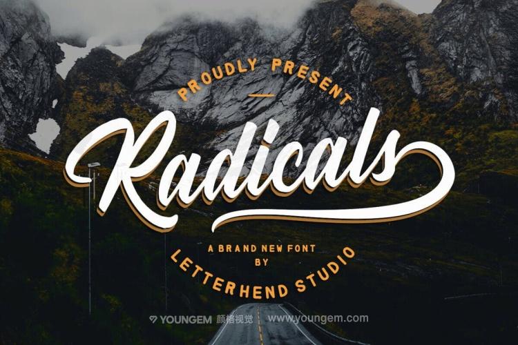 产品包装广告设计英文字体设计图片