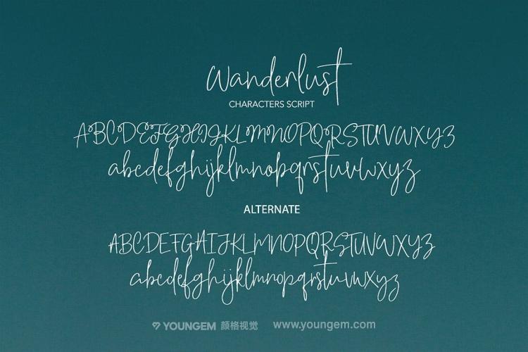 相册杂志海报封面艺术英文字体设计模板