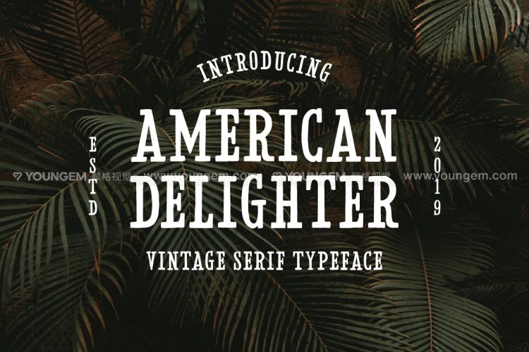 T恤印刷广告封面免费英文字体设计图片