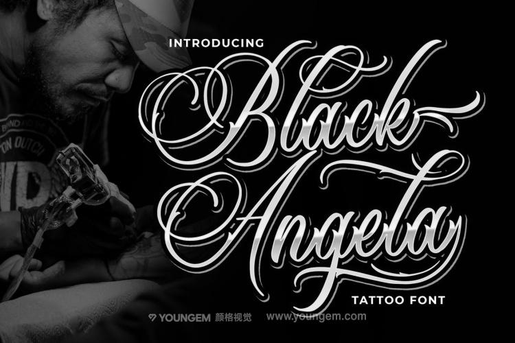 纹身艺术英文字体设计图片