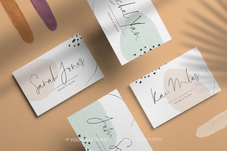 贺卡信封书籍封面签名英文字体设计模板