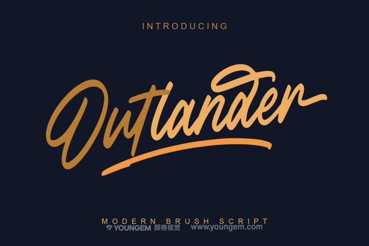 产品包装艺术签名手写英文字体设计图片