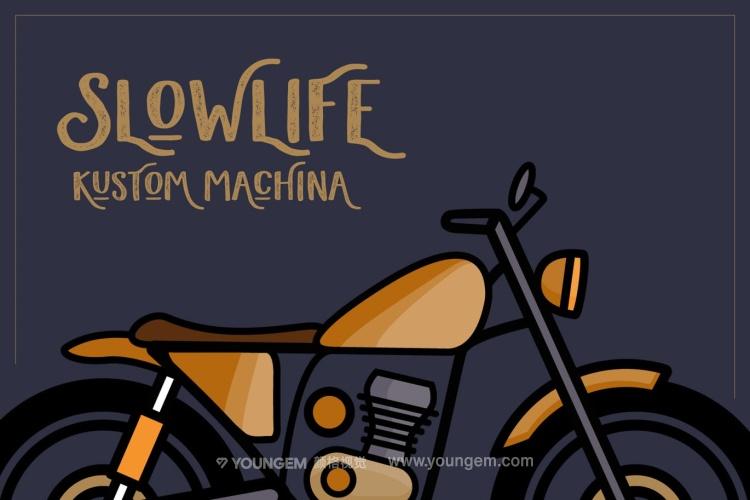 卡通海报logo设计艺术英文字体下载素材