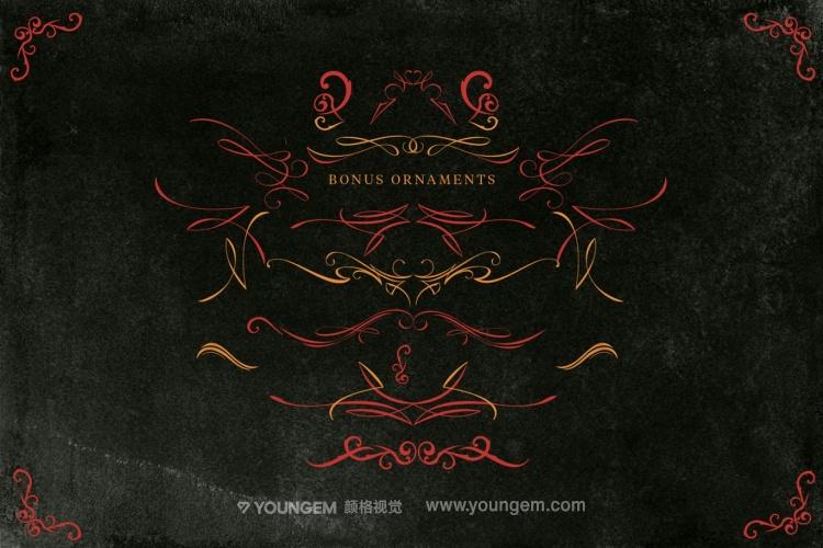 复古的产品商标logo艺术英文字体设计素材