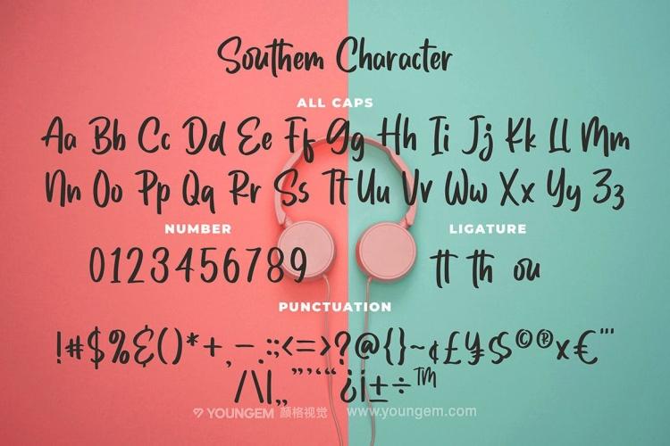 时尚儿童海报封面手写英文字体设计模板