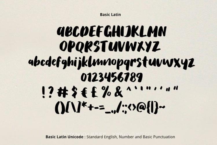 可爱商品封面标题艺术英文字体下载素材