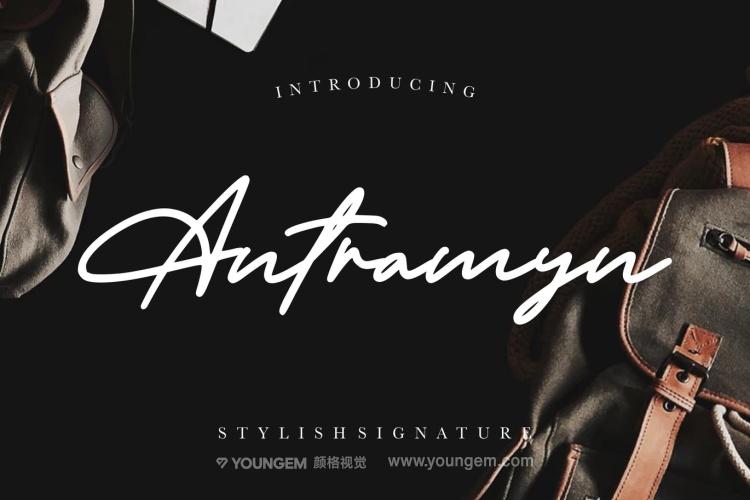 时尚杂志封面艺术签名英文字体设计图片