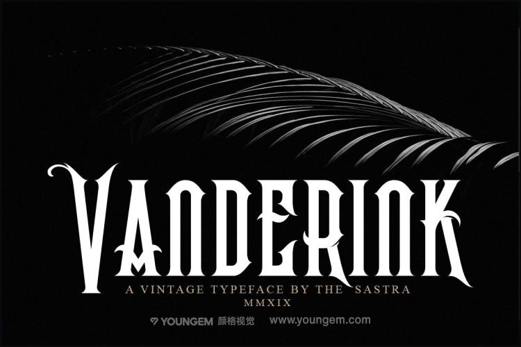 荆棘风格品牌商标logo设计英文字体下载素材