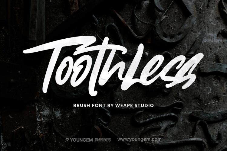 T恤印刷商品广告标题艺术英文字体设计图片