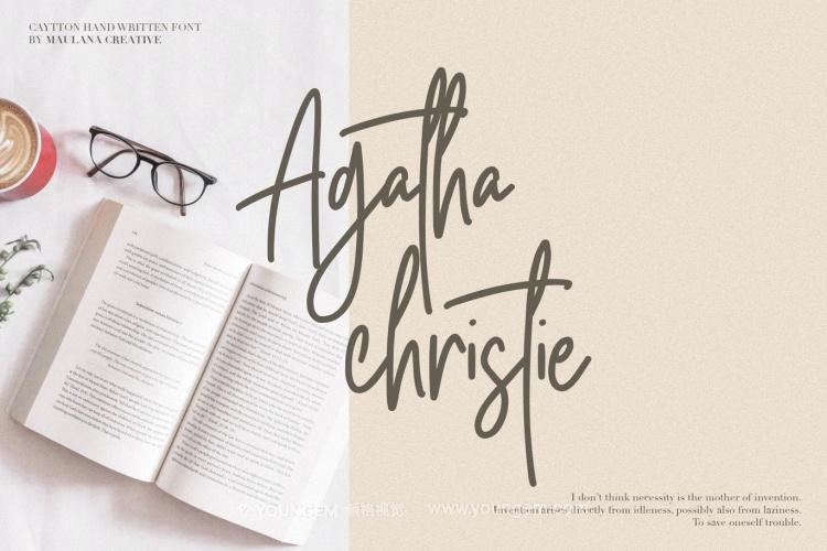 书籍相册封面艺术签名英文字体下载素材