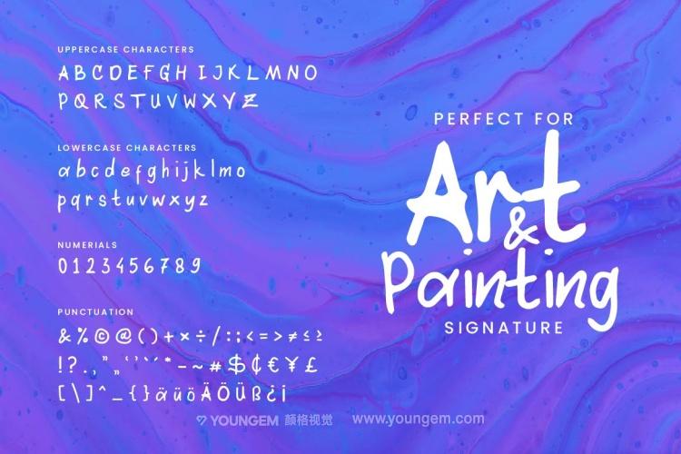 海报贺卡摄影作品封面英文字体设计素材