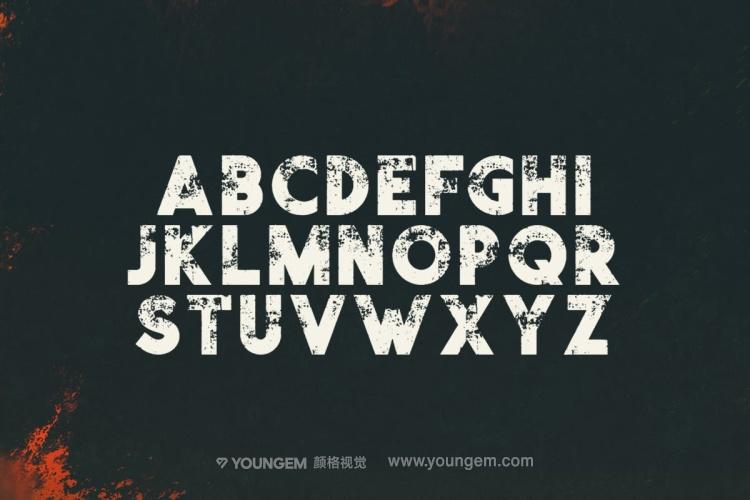 电影杂志海报标题设计英文字体下载素材