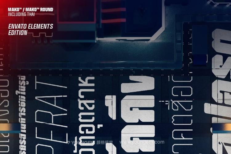 科幻电影海报封面标题英文字体下载模板