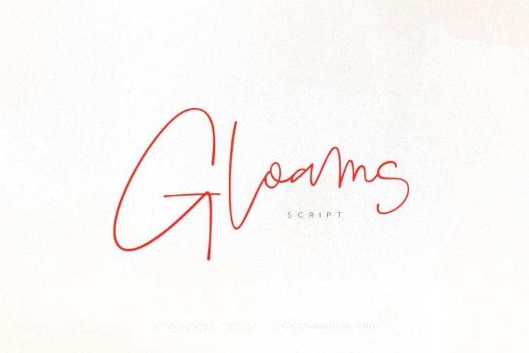 好看的女性艺术签名连字英文字体设计素材