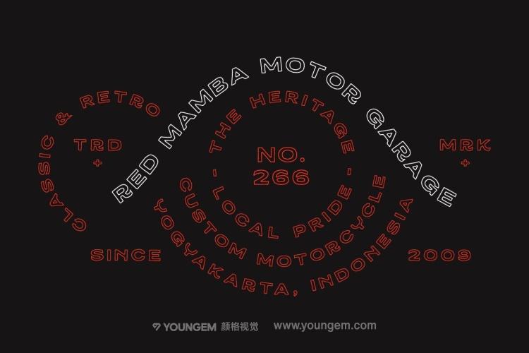 复古经典商标logo徽标镂空线性轮廓英文字体下载模板