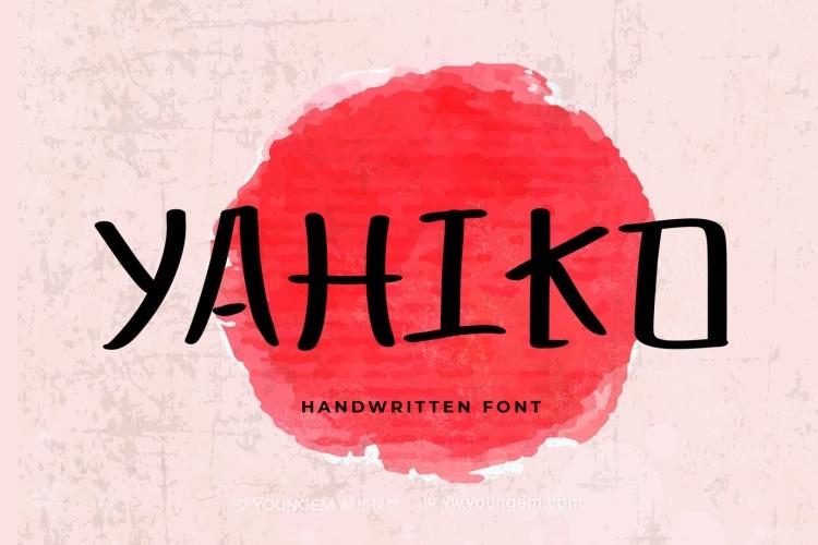 日本幼儿风格LOGO设计素材广告招牌标题手写英文字体图片