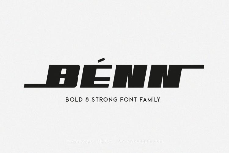 坚固厚重品牌海报徽标杂志电影无衬线英文字体家族图片