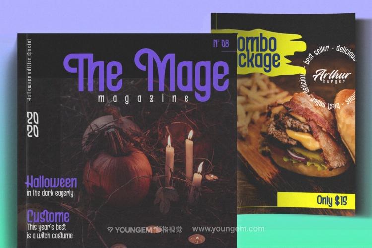 杂志书籍封面标题英文字体_商标logo常用英文字体下载模板