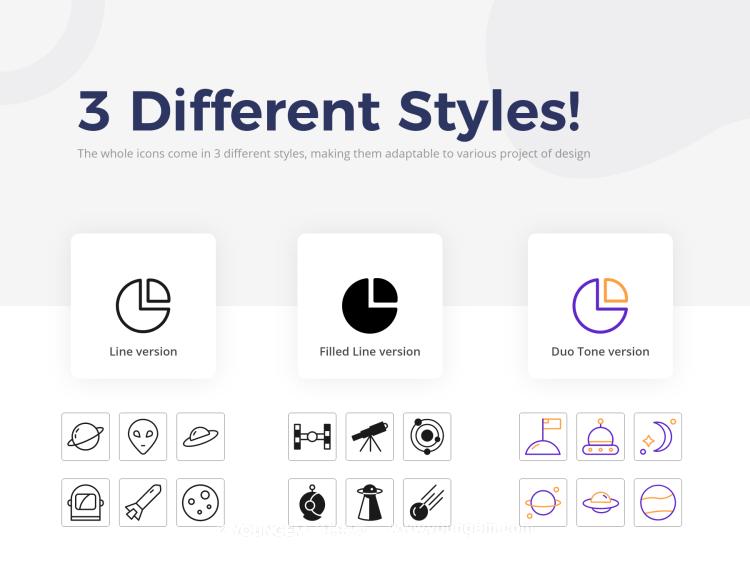 30款太空系列手机icon小图标素材下载素材
