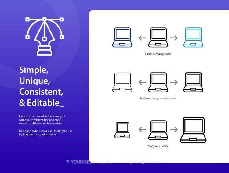 200款网站应用icon图标下载模板