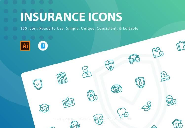 150款金融保险应用icon小图标素材下载图片