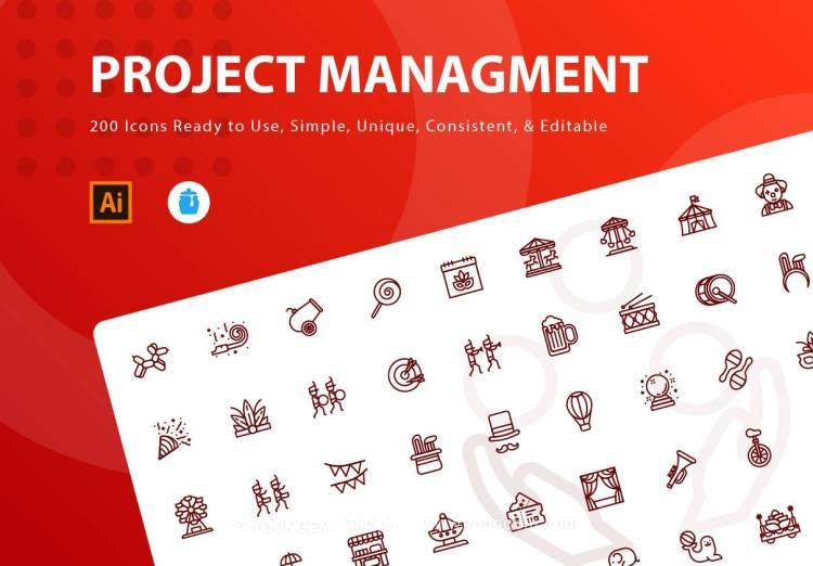 200款马戏团道具应用icon小图标素材下载图片