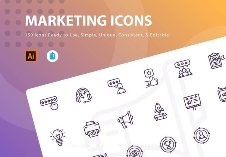 150款商业市场推广办公类应用icon图标下载图片