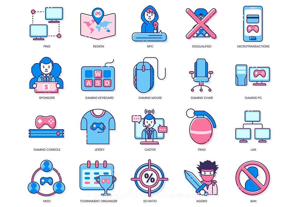 55款电竞游戏人物icon图标素材