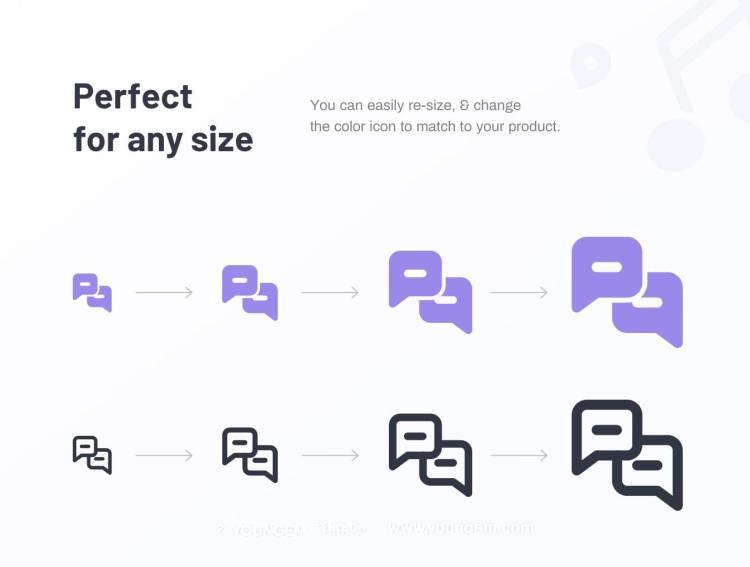 470款商业金融类线面结合icon图标模板