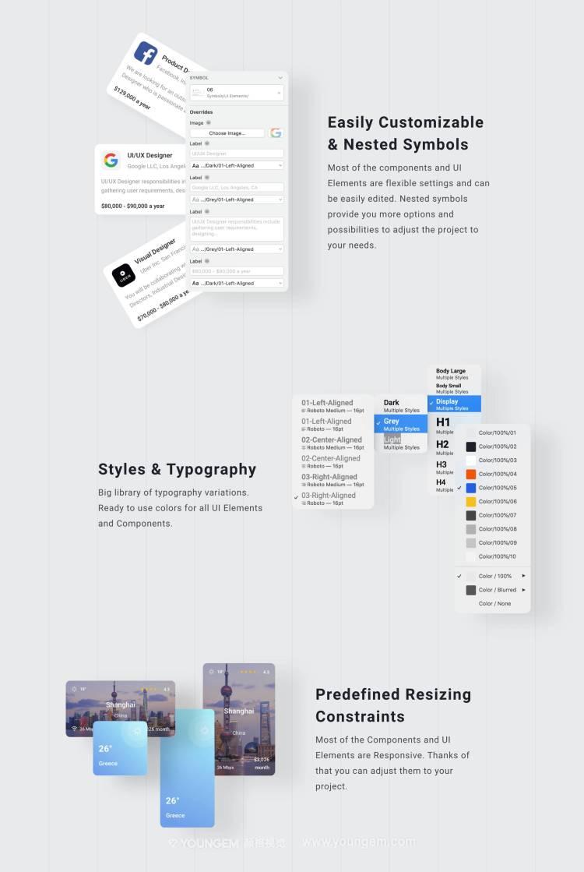 40张优质的旅行度假景点资讯app界面UI设计素材素材