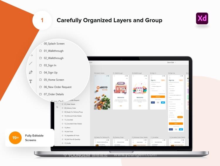 移动电商app界面设计欣赏_手机电商app界面设计模板素材下载素材