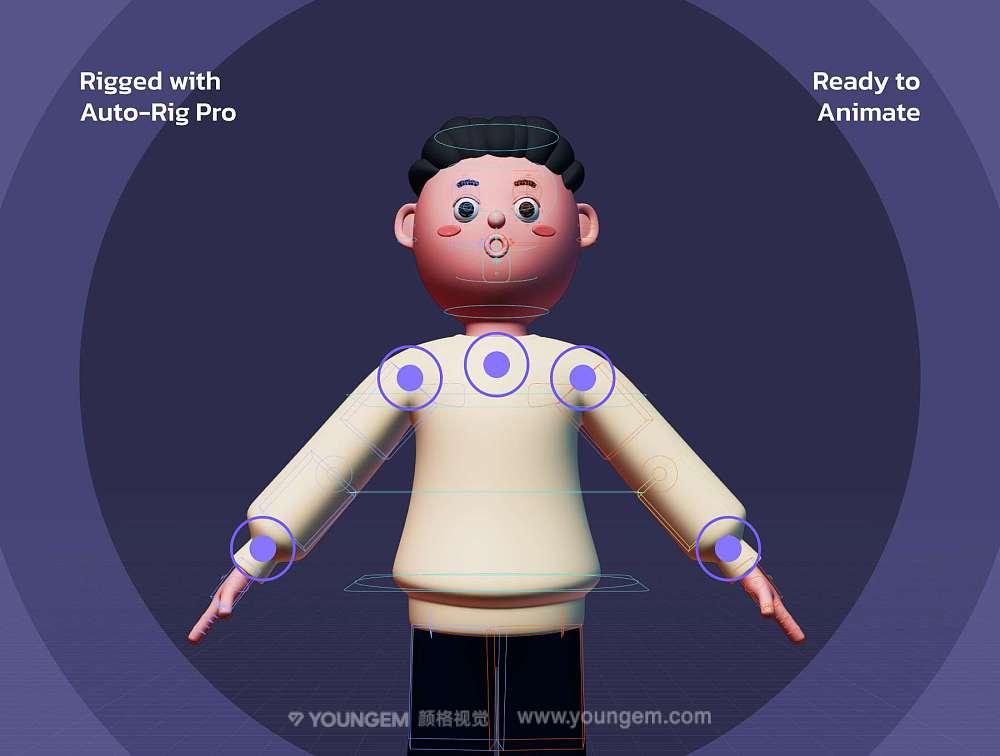 3D人物手机应用插画设计素材_App启动页三维立体角色插画图片下载模板