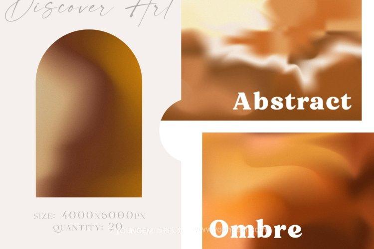 20款复古模糊渐变颗粒噪点艺术抽象装饰肌理背景纹理图片设计素材模板
